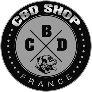 logo CBD SHOP France Officiel N&B