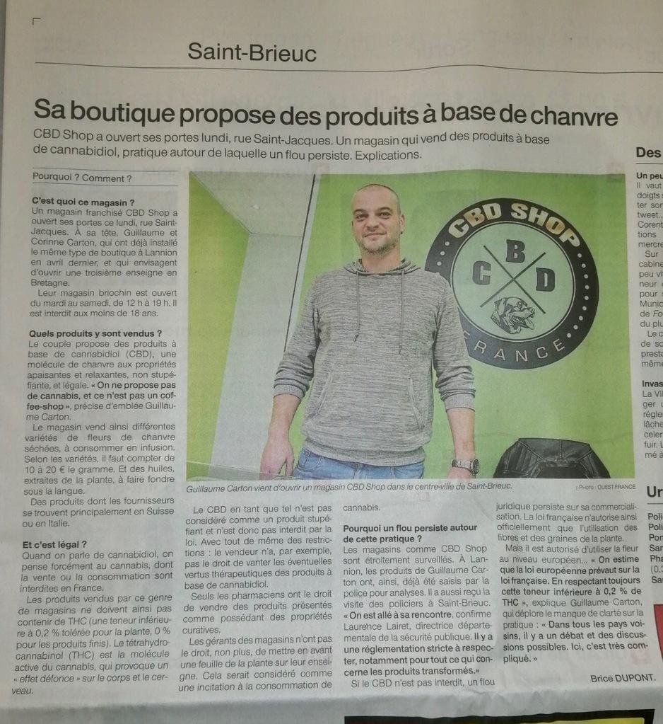 CBD Shop France - Saint Brieuc Presse